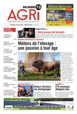 La couverture du journal AGRI 79 Informations n°2214 | mai 2018
